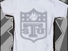 TSU NFL Grey Logo White Shirt